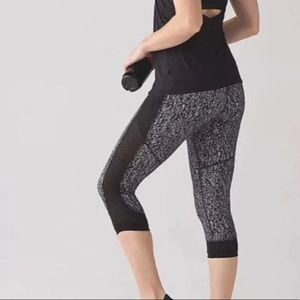 Lululemon black leggings Fit Physique Mesh Crops